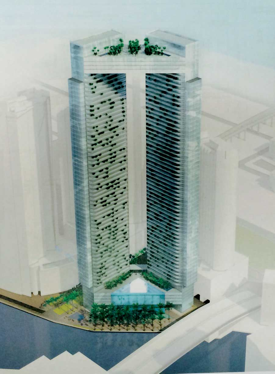 Rendering of Two Towers