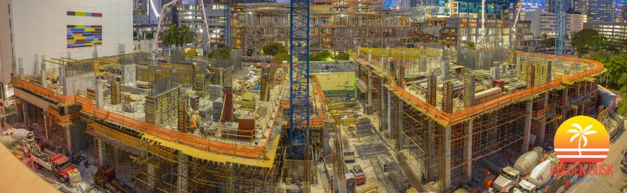 Construction on Brickell Heights