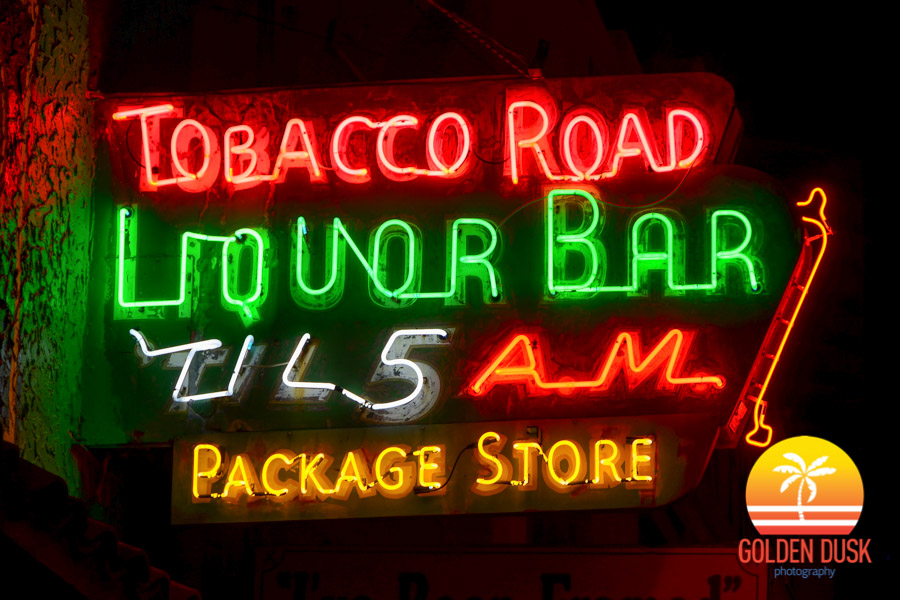 Tobacco Road Sign 2 (Night)