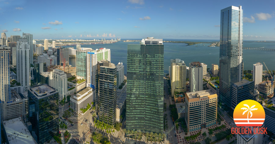 View From The Top of SLS Brickell