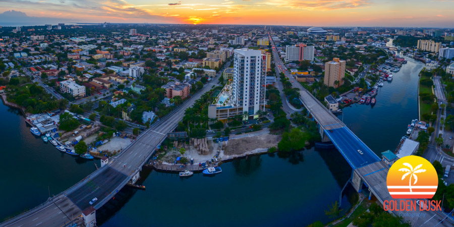 Sunset Over the Miami River