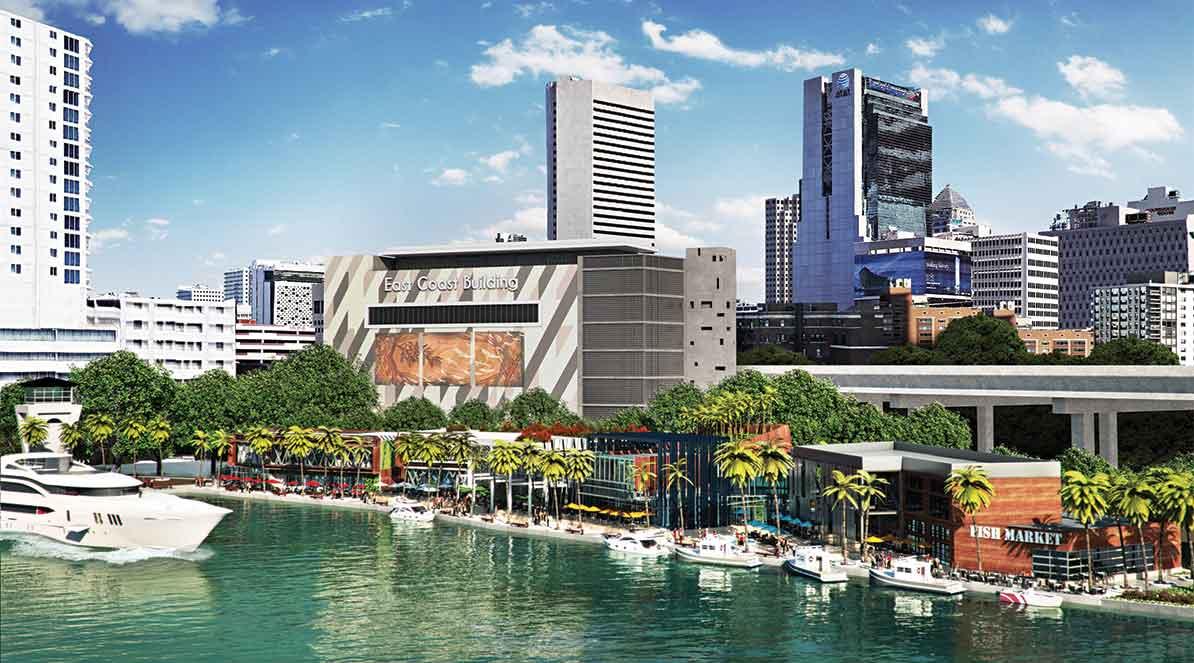 Rendering of Riverside Wharf