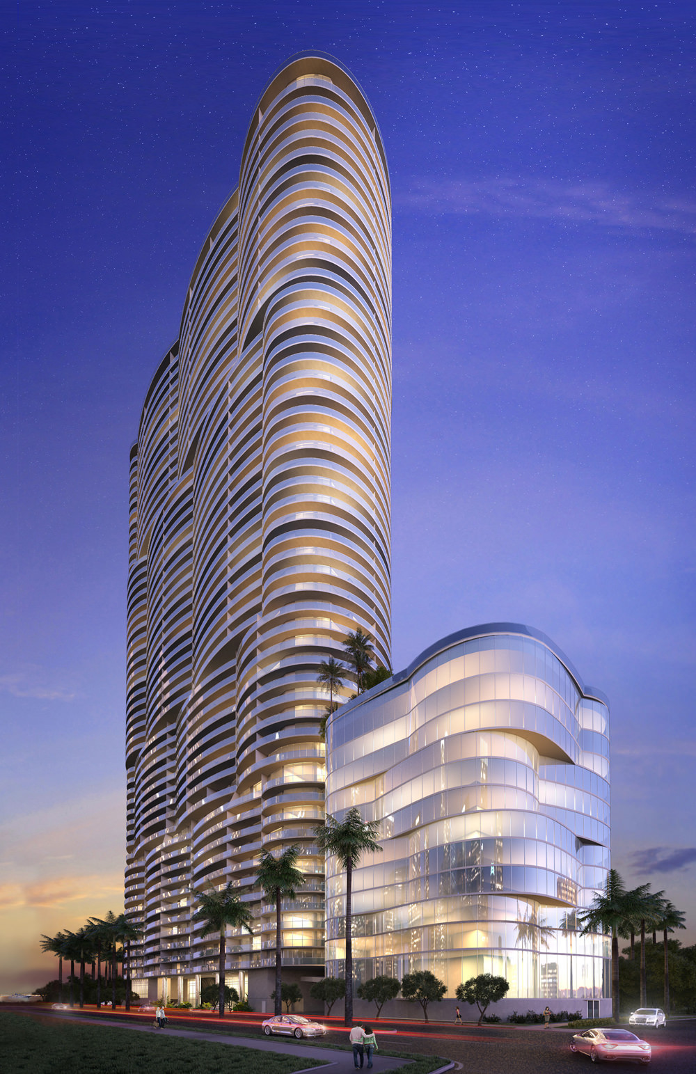 Aria on the Bay Rendering