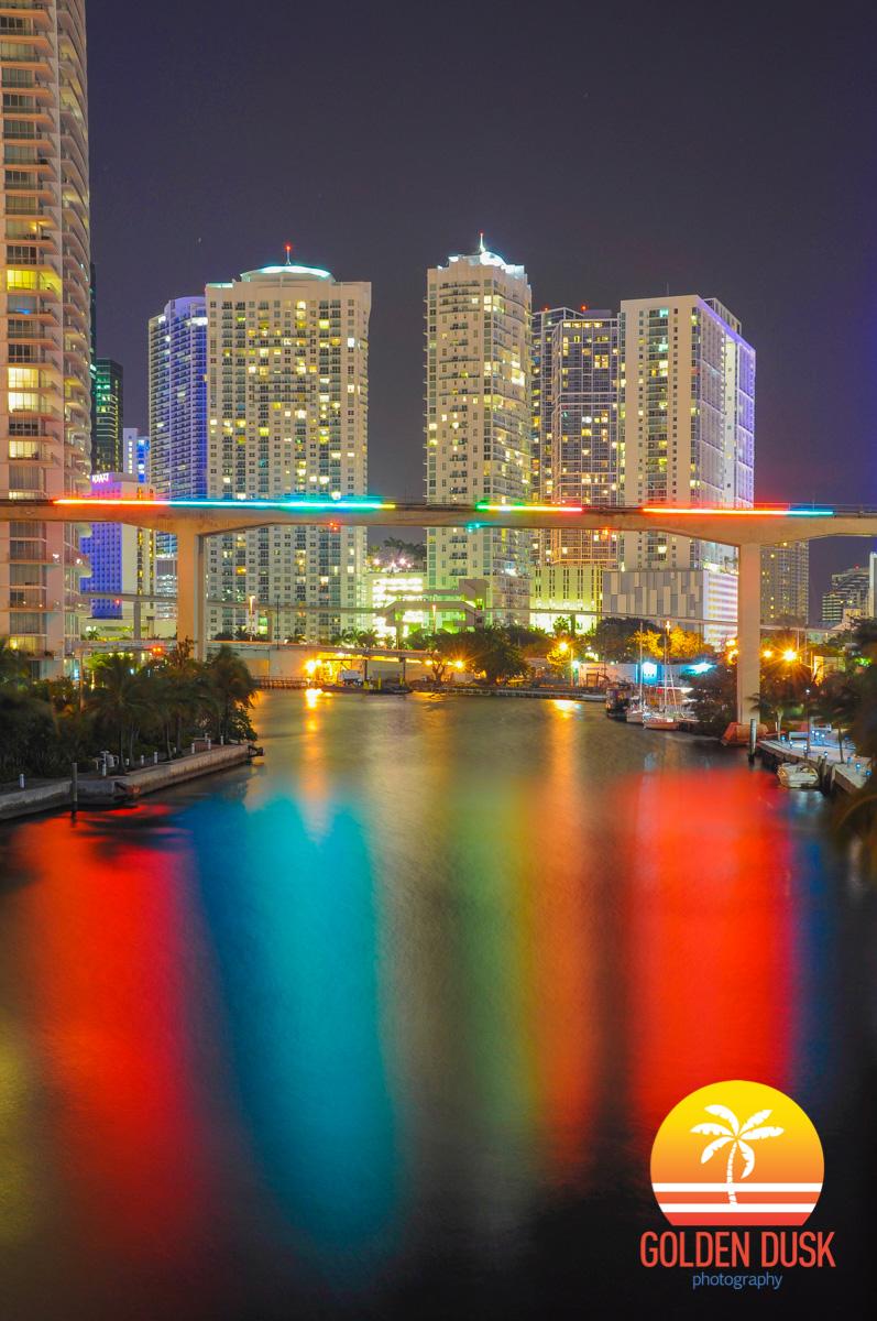 The Miami Line Over The Miami River