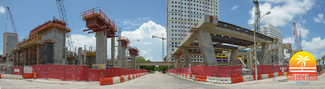 Construction on MiamiCentral - All Aboard Florida