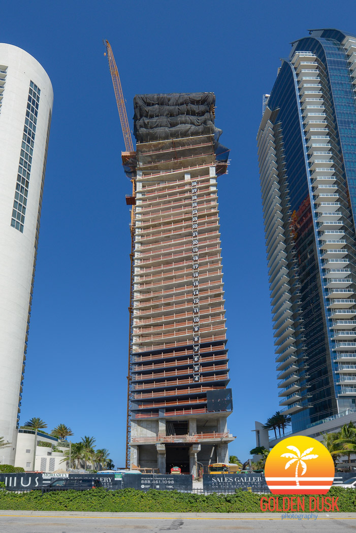 MUSE Residences along Collins Avenue