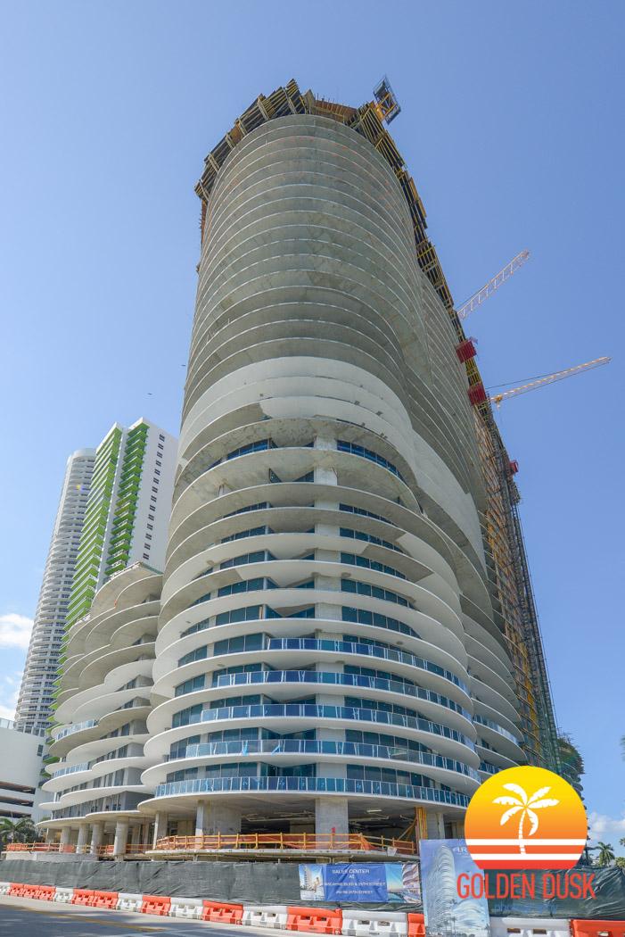 Aria on the Bay Reaches 35th Floor