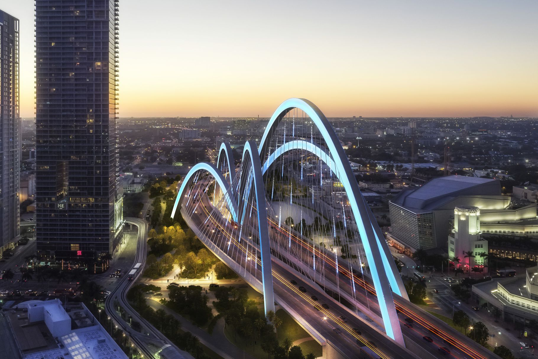 Miami Signature Bridge Rendering