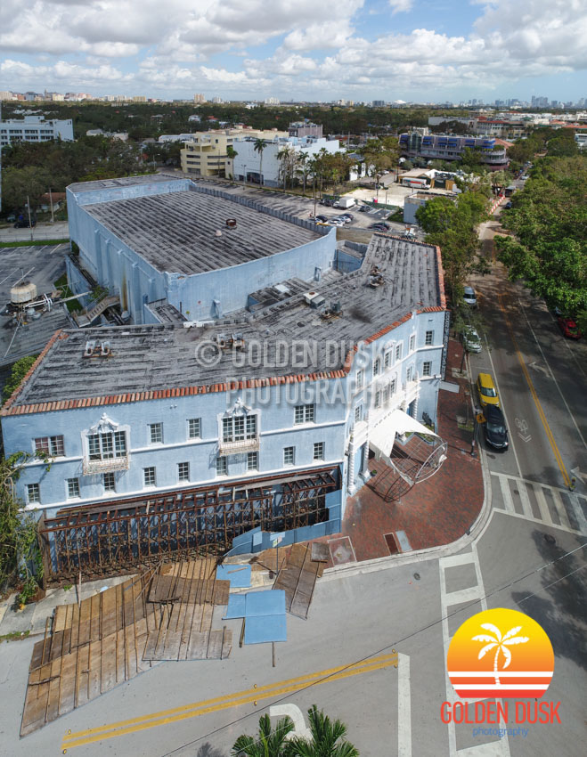 Coconut Grove Playhouse After Hurricane Irma