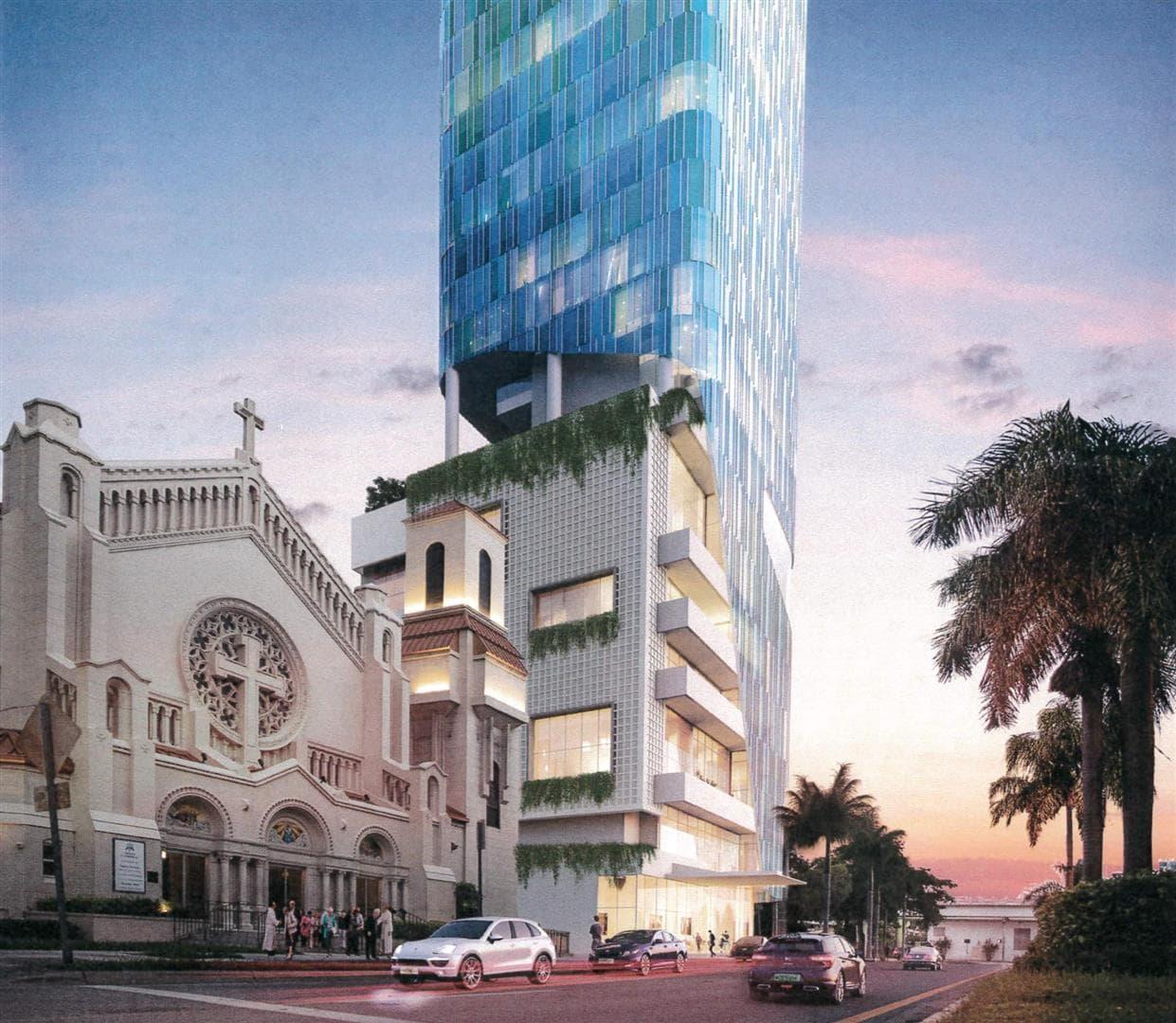 Miami Marriott Courtyard Rendering