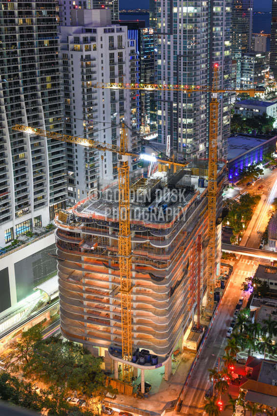 Brickell Flatiron At Night