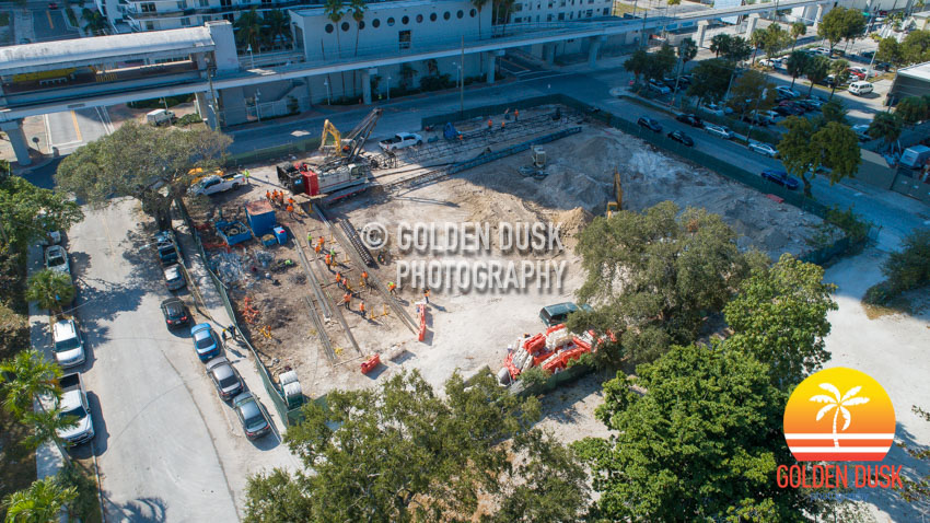 Foundation Work at Miami Plaza