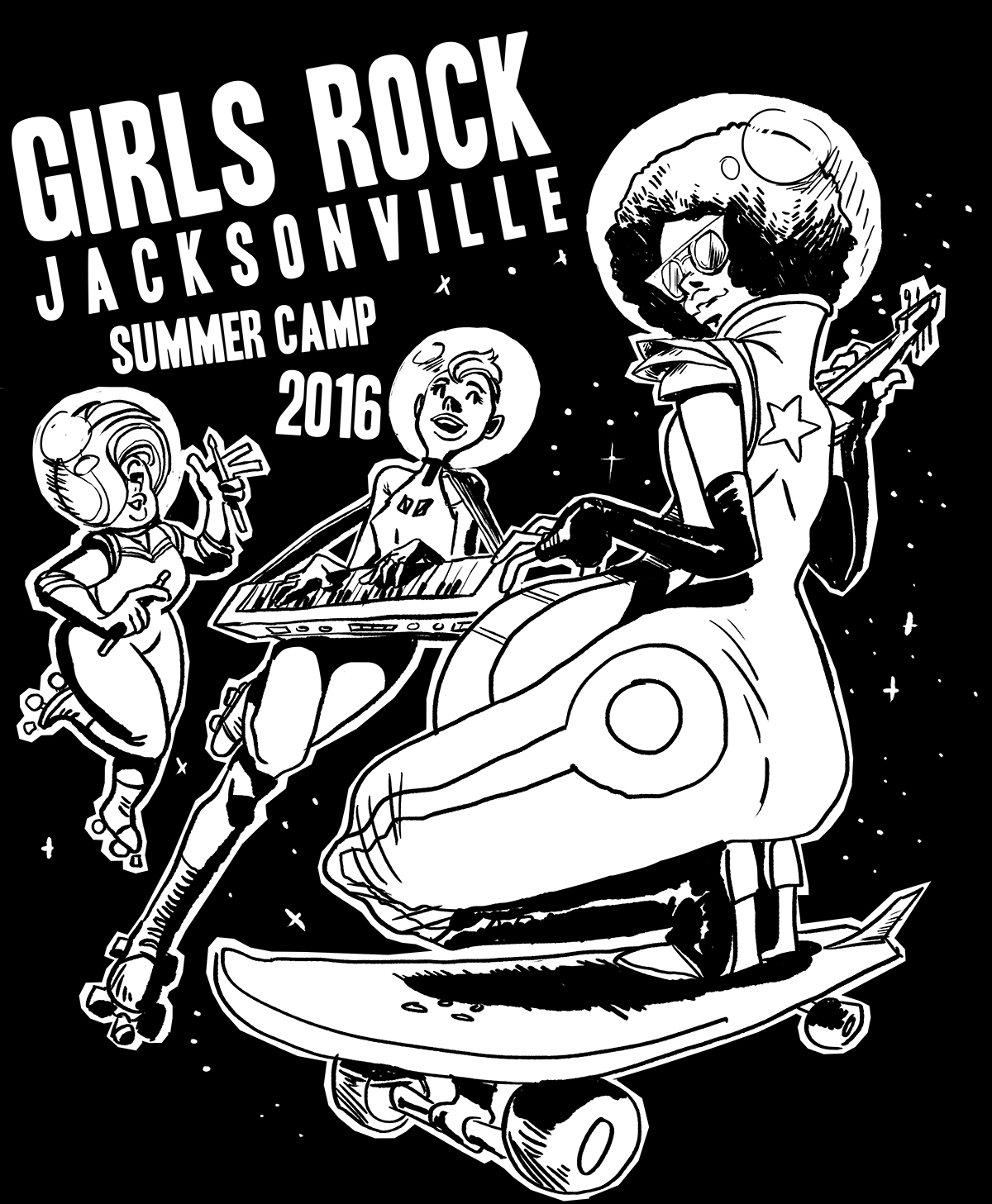 Girls Rock Jacksonville Shirt Design