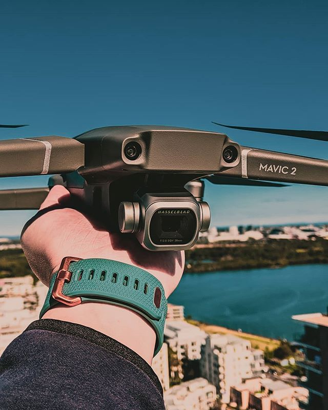 Flying this drone off a rooftop to start with a better perspective. Who else shoots with the #mavic2pro?