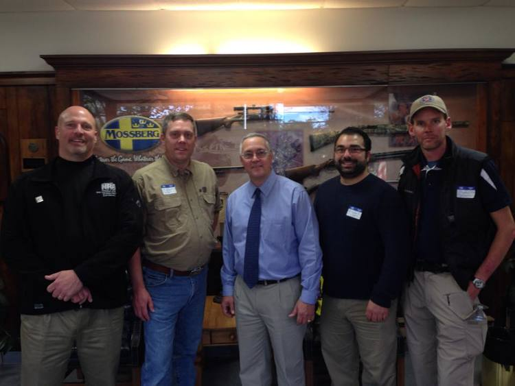 Connecticut 2014 - The Connecticut Citizens Defense League (CCDL) was very kind of set up a rare tour of the Mossberg manufacturing facility on our 2014 2nd Shift 4 Liberty Tour. Mossberg is a massive supporter of the 2nd Amendment and we were honored to get to meet them. Pictured: Sean Maloney (OH), Timothy Knight (CO), Mossberg official (yeah we know who he is), Alexander Roubian (NJ) and Judson