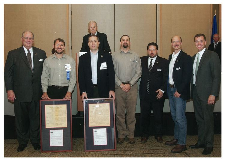 September 2014 NRA Jay M. Littlefield Grassroots Award - .Left to right: Jim Porter, NRA President in 2014; Victor Head (Pueblo Freedom and Rights); Tim Knight (Basic Freedom Defense Fund); Luke Wagner (BFDF); Erik Groves, (BFDF attorney); Keith Coniglio (BFDF); Chris Cox, NRA-ILA Executive Director. Picture does not imply endorsement of Timothy Knight by the NRA