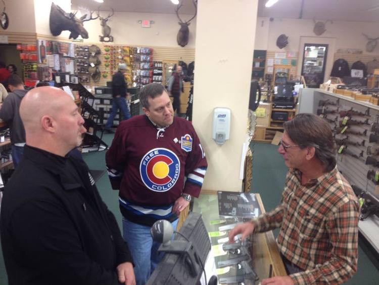 The Constitution State - Sean Maloney and myself visiting a gun shop in Connecticut during our 2014 2nd Shift 4 Liberty Tour. Meeting members and 2nd Amendment advocates face to face, letting them know that real people around the nation not only stand with them, but are willing to work with them is key to protecting our rights. We stand together or fall apart.