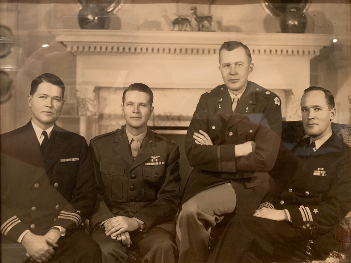 My Grandfather, 2nd from the left, with three his brothers shortly after they all returned from World War II.