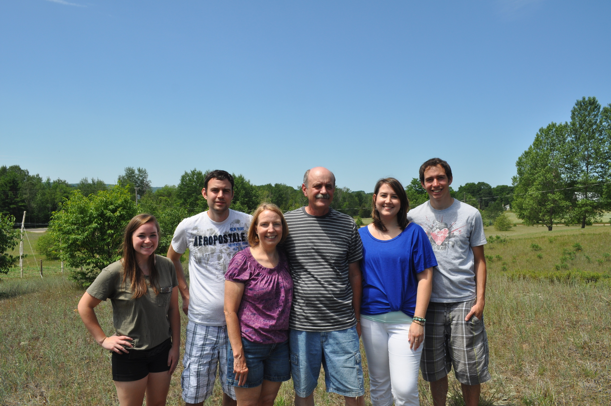 Our family in 2013.