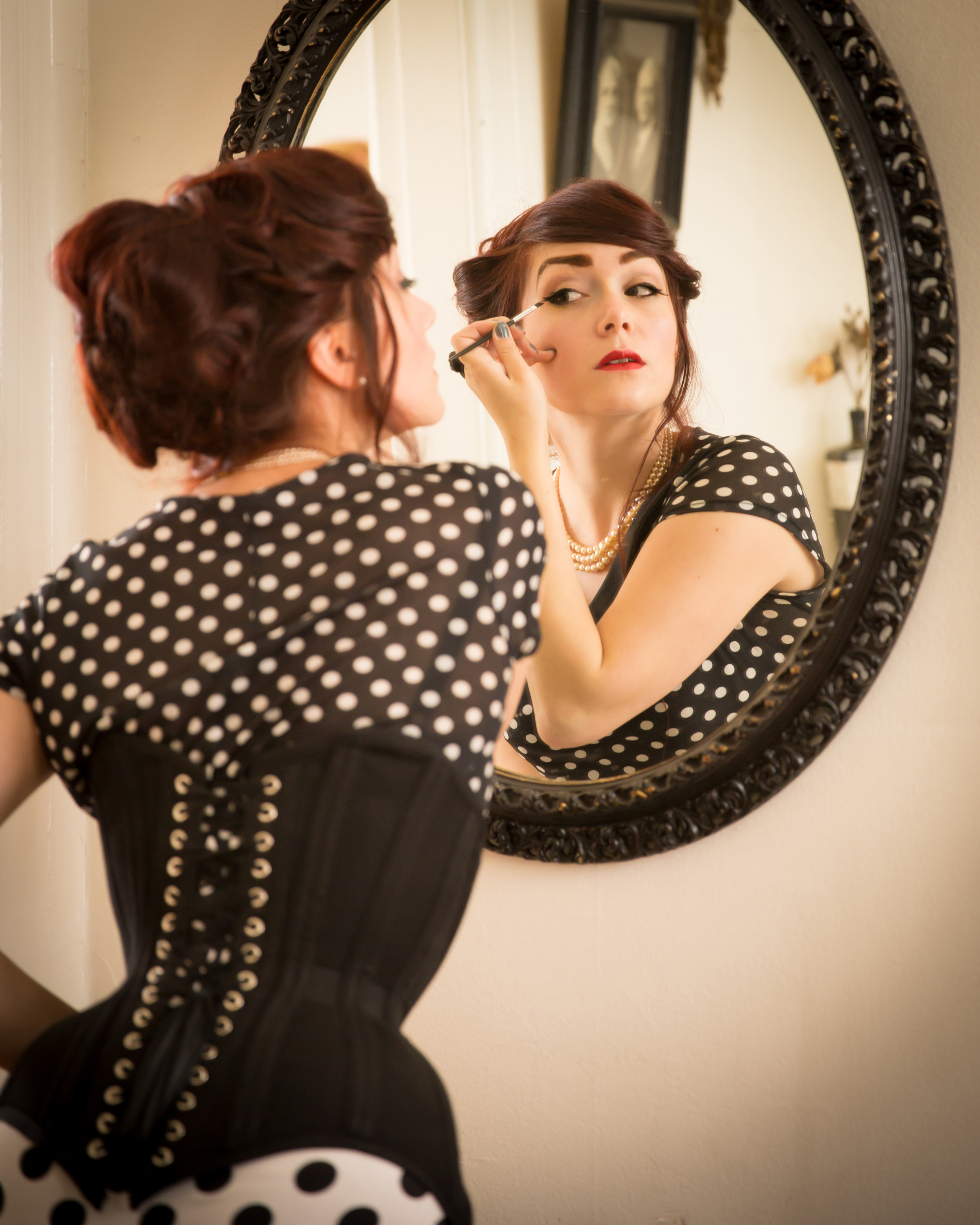 "Pop Antique ""Gibson Girl"" waist training corset | Model: Victoria Dagger | Photo © John Carey | Hair by Vanessa Joy at Vim and Vigor salon"