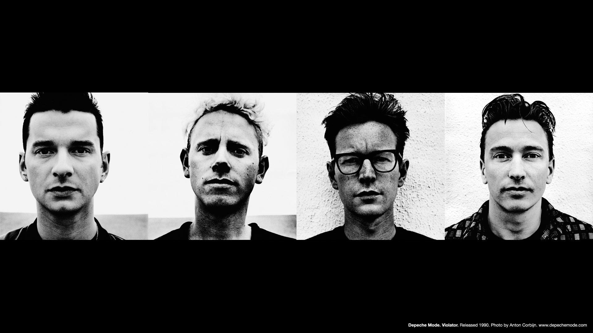 From Left: Dave Gahan, Martin Gore, Andy Fletcher, Alan Wilder  Image via DepecheMode.com
