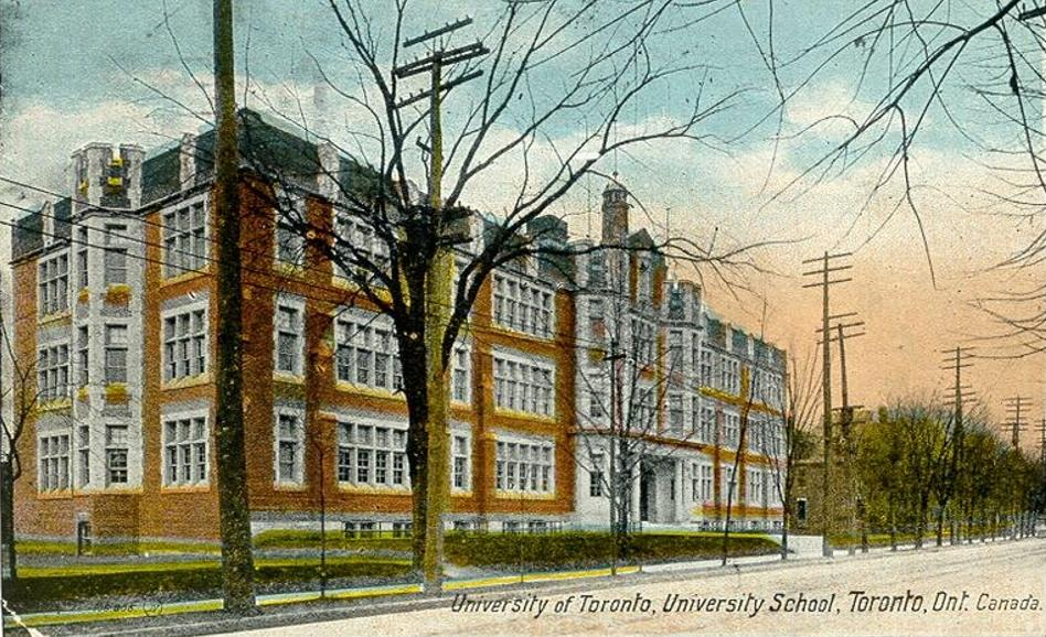 University of Toronto Schools, 1920. Beginning in 1928, the building housed the University of Toronto Library School, the first academic institution dedicated to the training of librarians in Ontario. Wikimedia Commons.