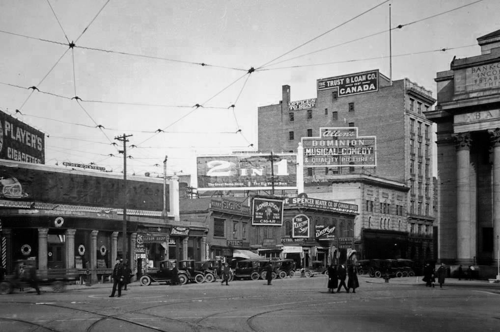 Portage Avenue and Main Street, 1921.