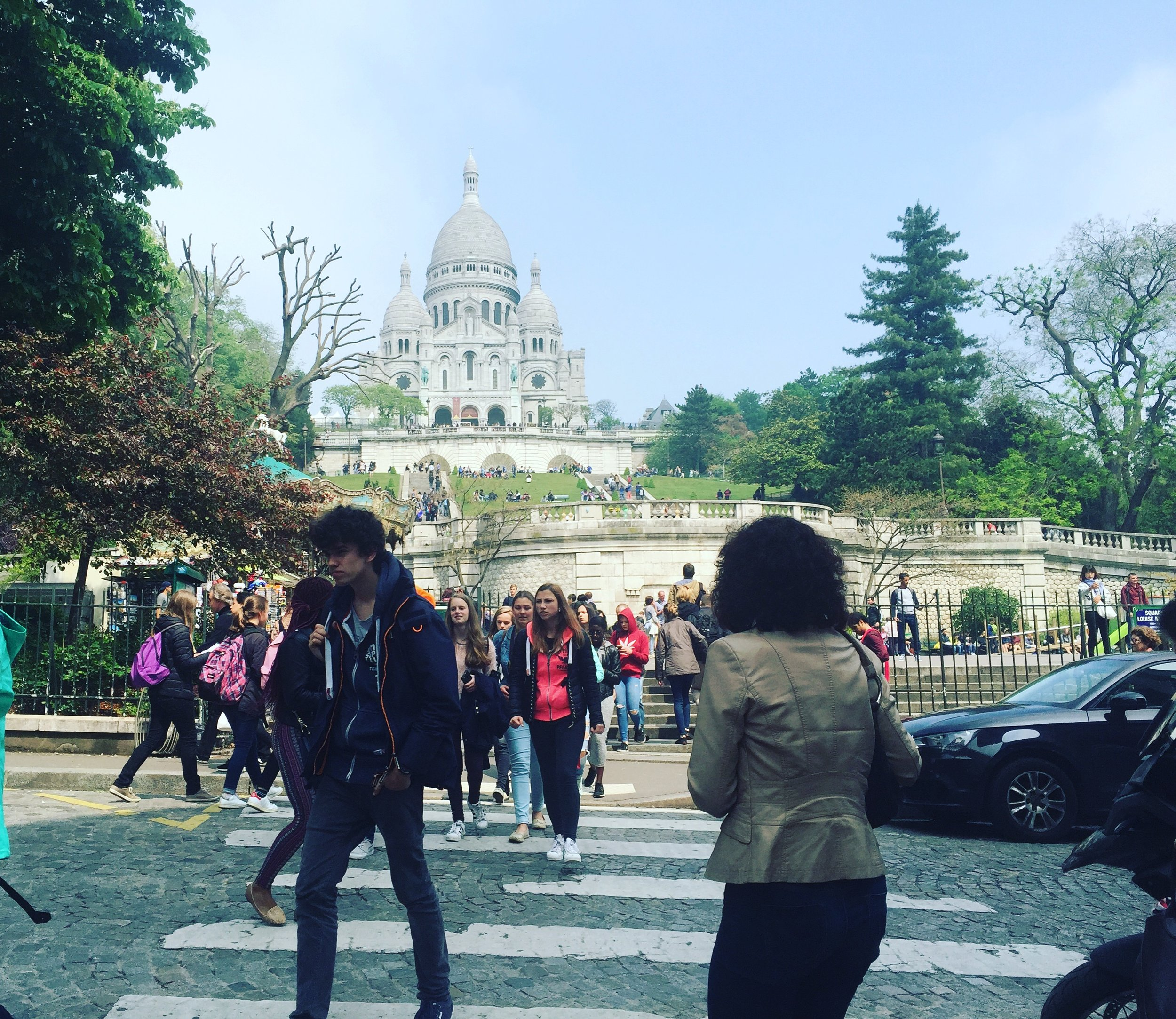 Sacre Coeur and tourists