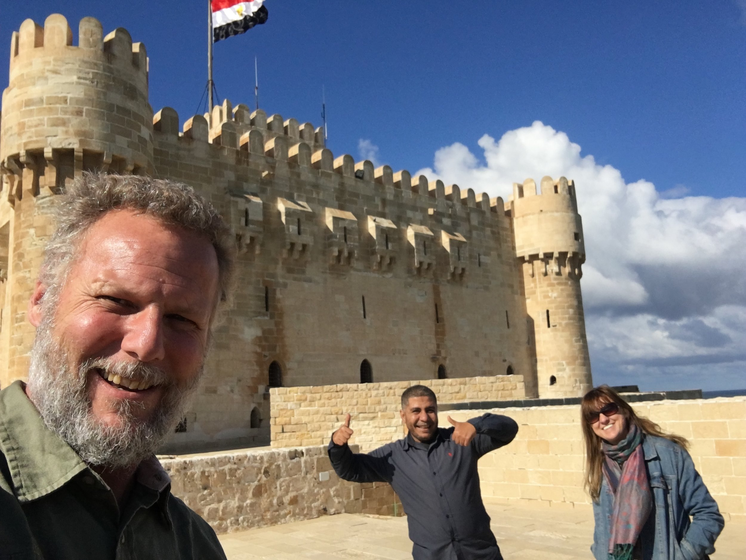 In Egypt with     Mostafa El Faham     - Our good friend, Egyptologist & owner of the tour company we are partnering with to take our friends/family to Egypt in 2020!