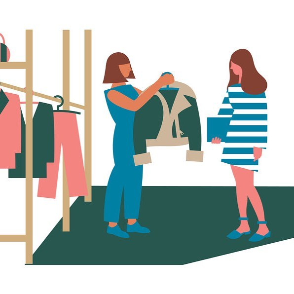 Illustration for the Personal Styling Lounge at @westfieldlondon 🛍