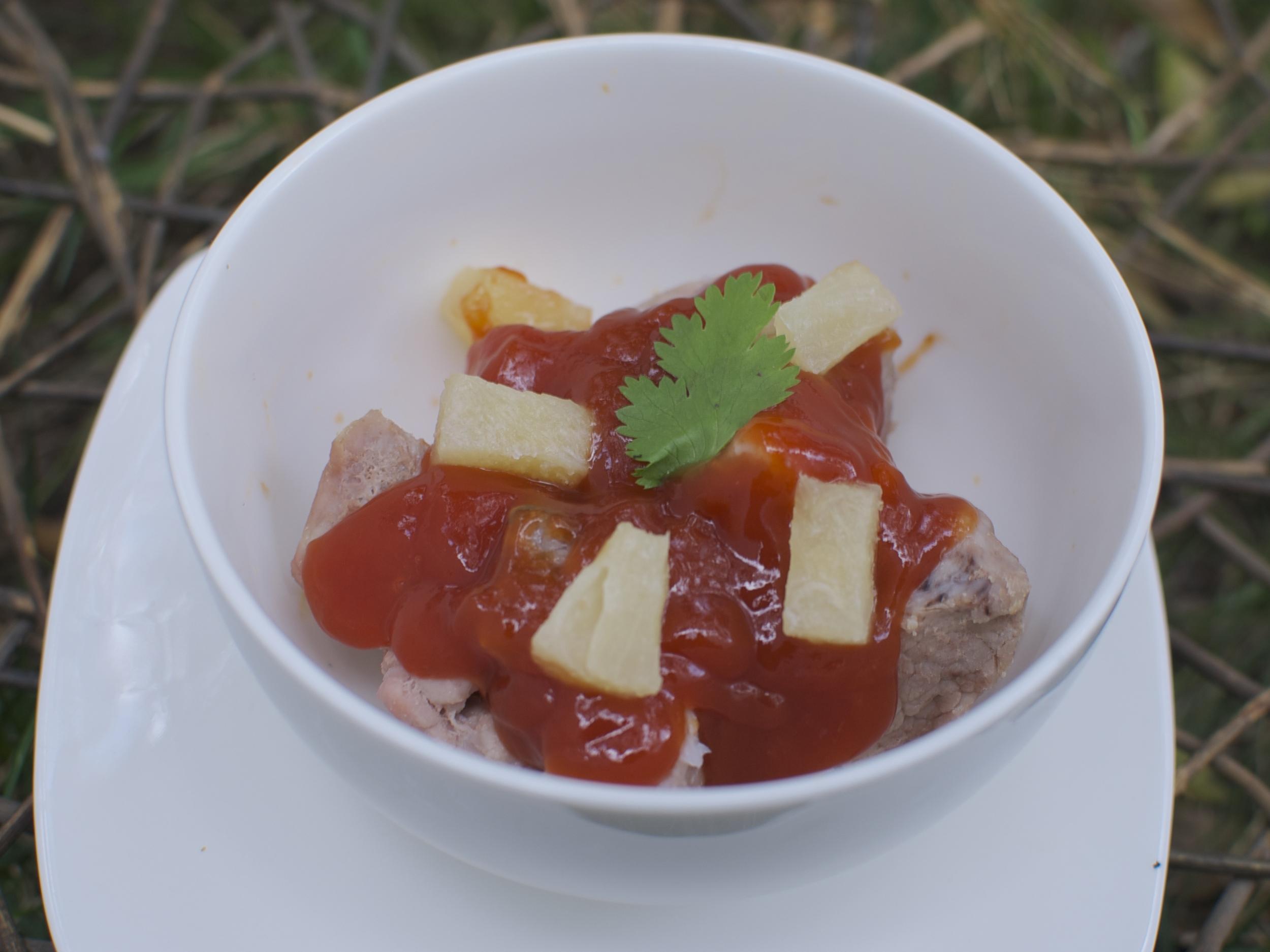 Costillitas Thai  Costillitas en salsa agridulce. Precio por Pyrex $ 560.00