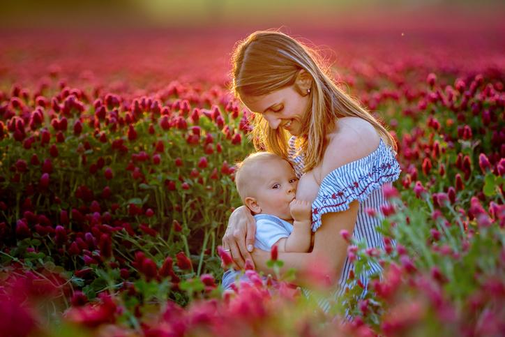 Breatfeeding in field.jpg