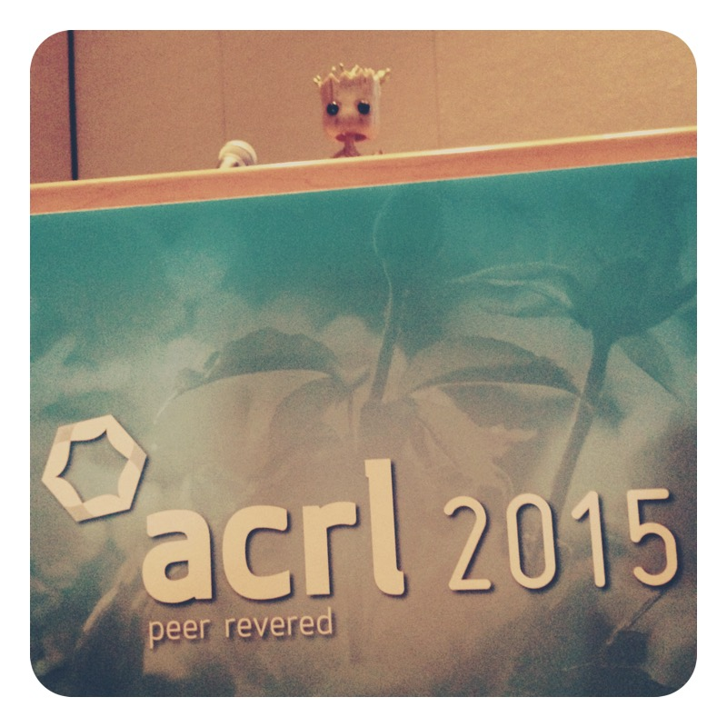 "Groot spoke to a standing-room only crowd at ACRL. Everyone nodded sagely as he explained: ""We are Groot."""