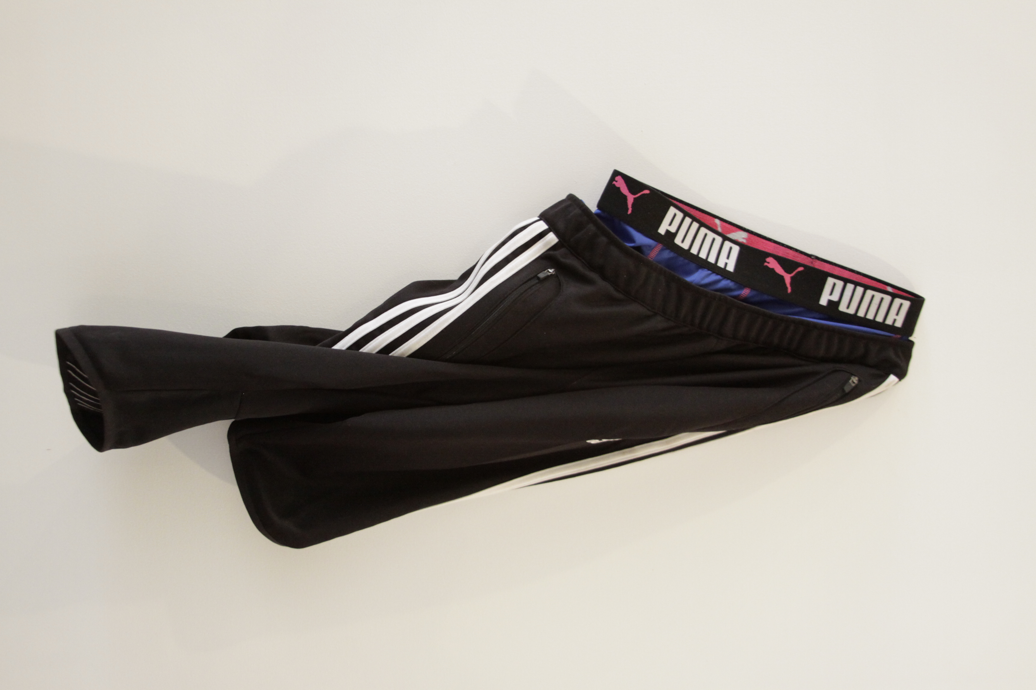 "Hung  adidas Three-Quarter Men's Track Pants, Puma Athletic Boxer Briefs 36"" x 18"" 2015"