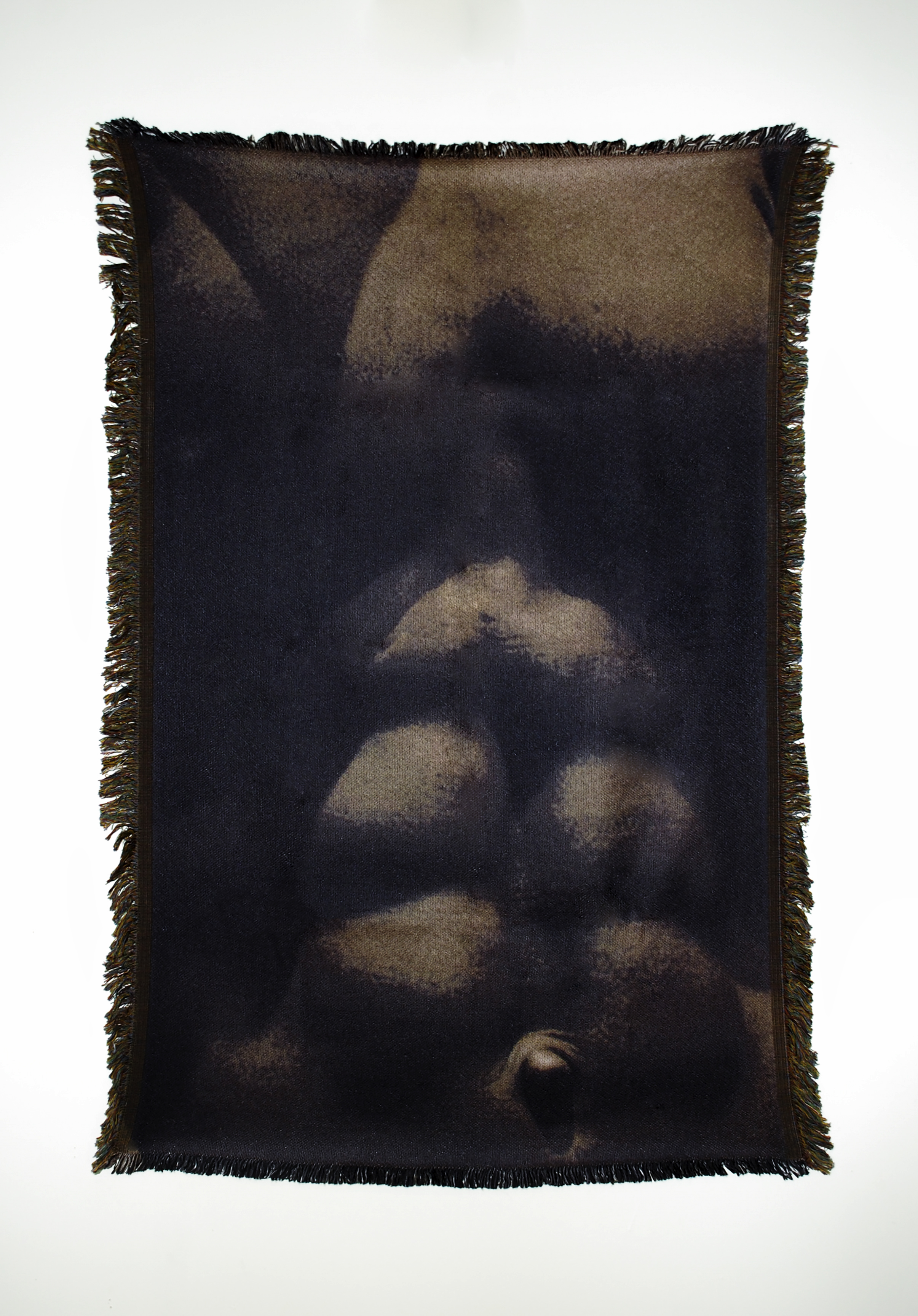 "Untitled (Cis-male 1)  54"" x 38"" photo-sublimated woven blanket"