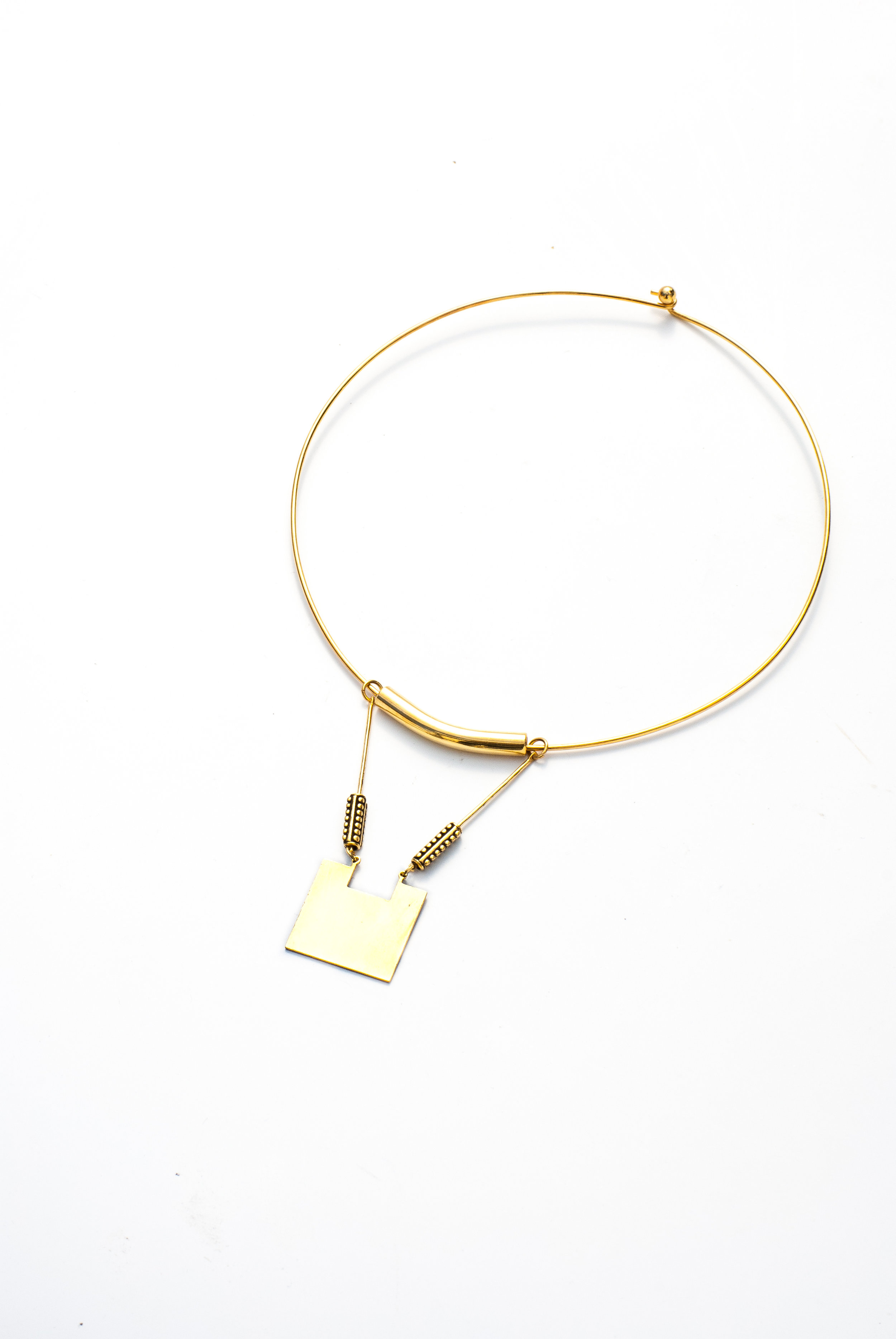 Cleo Collar Necklace   The Cleo Set was carefully crafted with salvaged brass components. Perfect addition to your favorite summer looks.