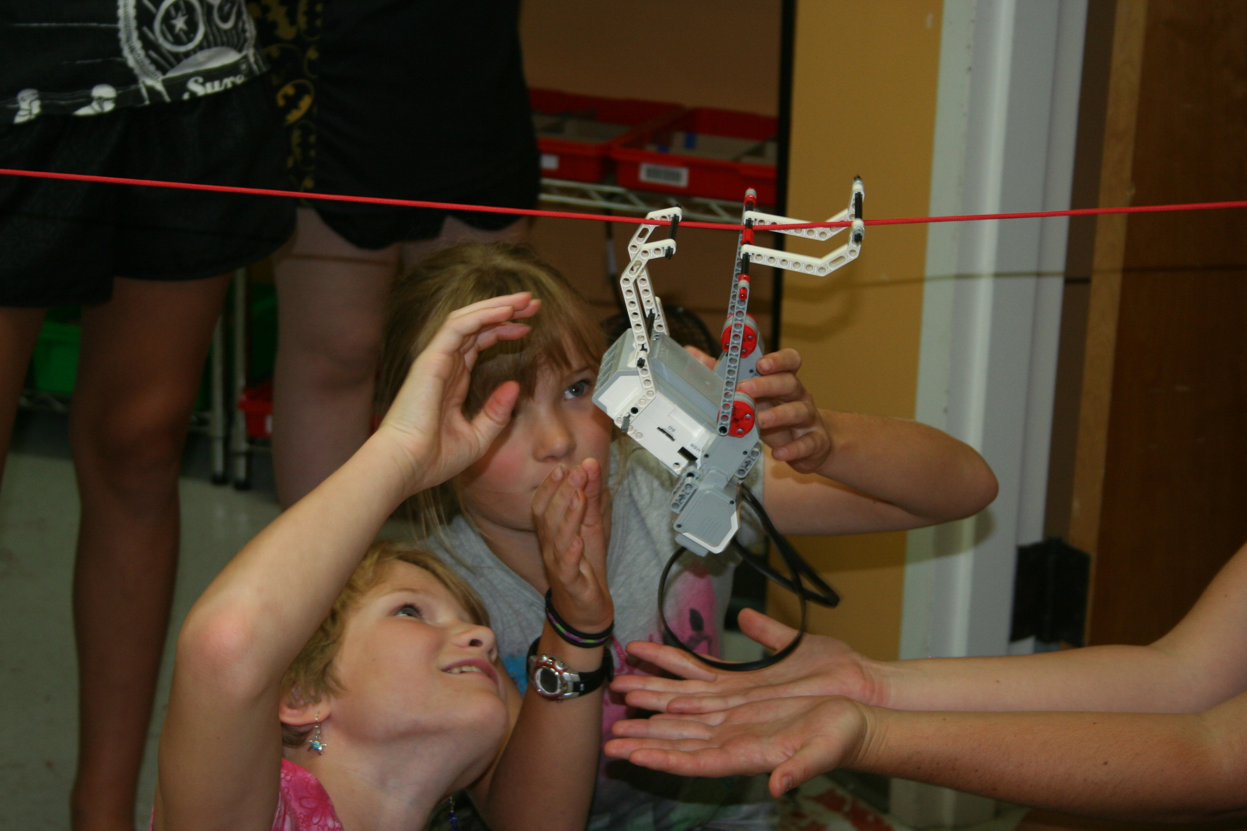 Rope Walk:  Don't fall Carefully design a tightrope walking robot.