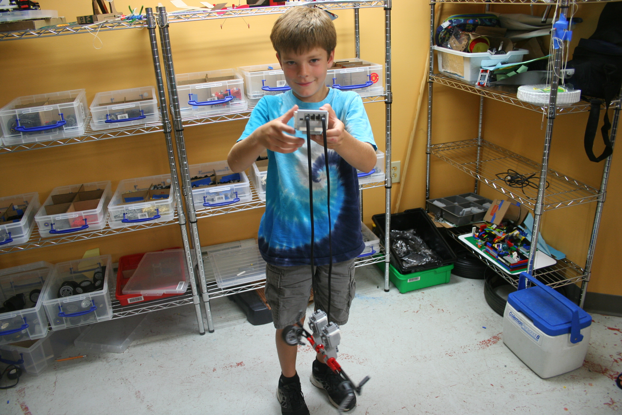 With two days to go our Makers had their first taste of LEGO Mindstorms!