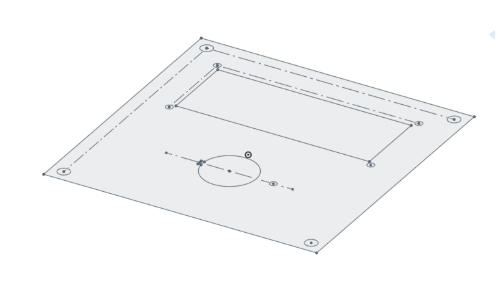 Template to laser-cut a top for the receiver