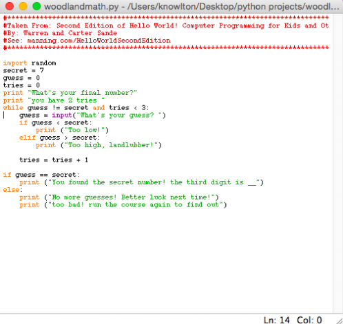 This little python script checked their math skills at the end of the course