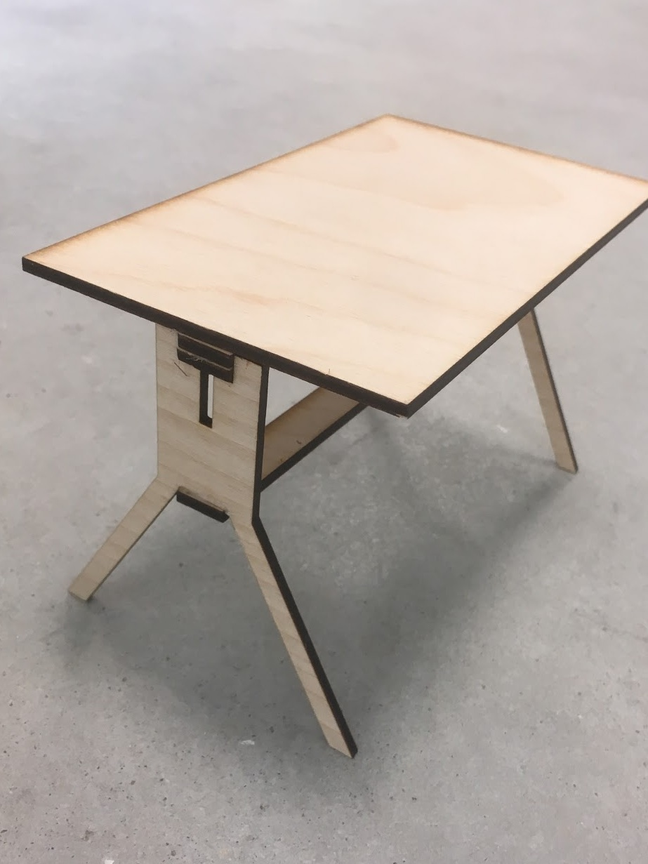 Laser Cut Prototype of the WMSi Table