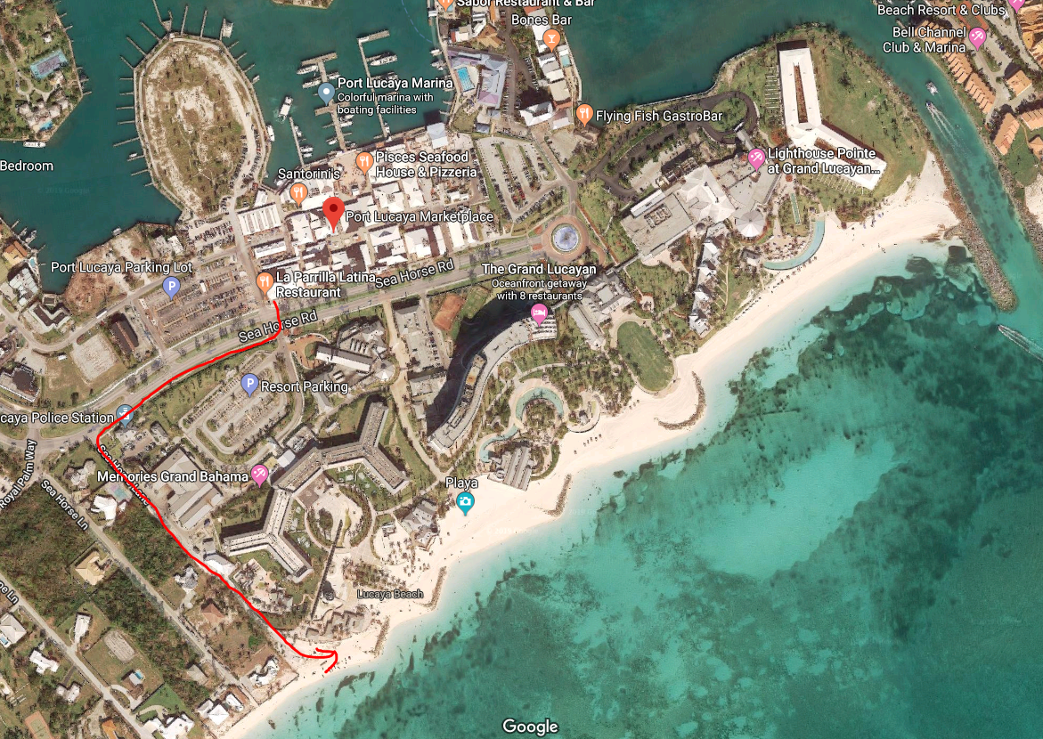 map of freeport bahamas cruise port Beach Options Freeport Fun Ashore map of freeport bahamas cruise port