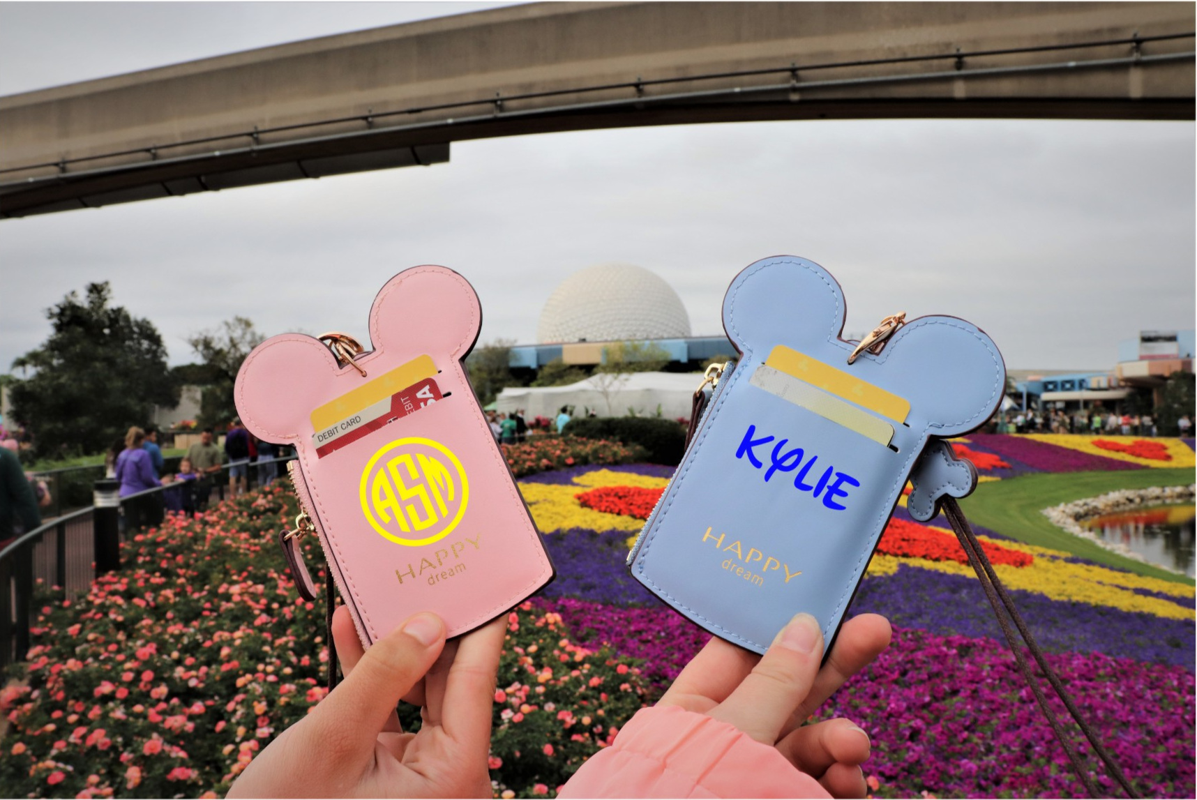 Custom Mouse Ears Lanyard Wallet