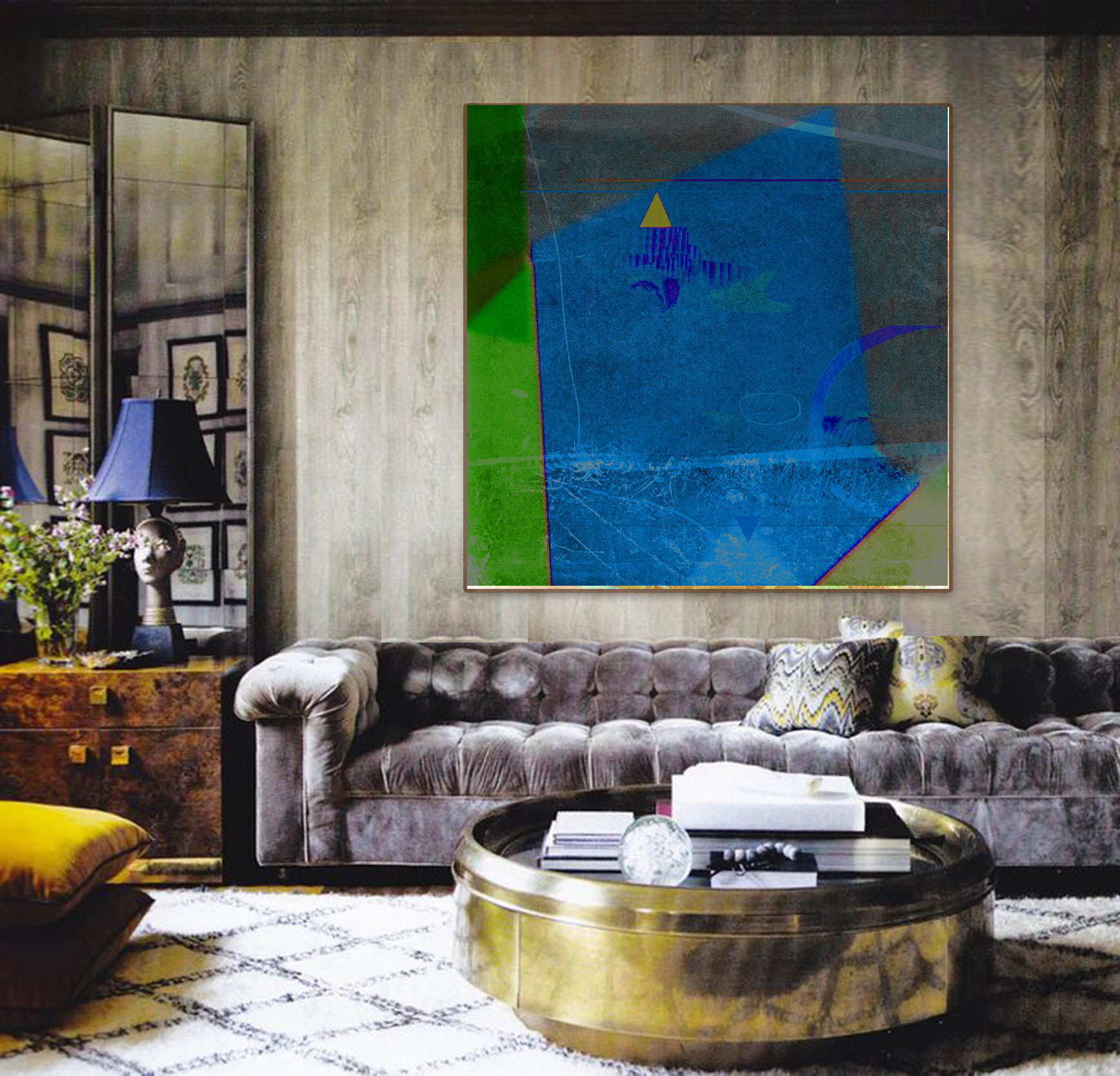 Richard Quinn Painting_Deep Blue Setting.jpg