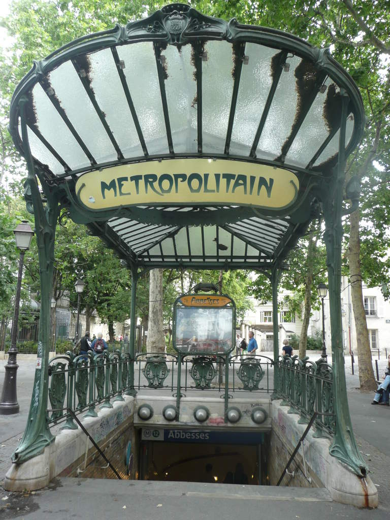 Entrance to Paris Metro, Hector Guimard 1900