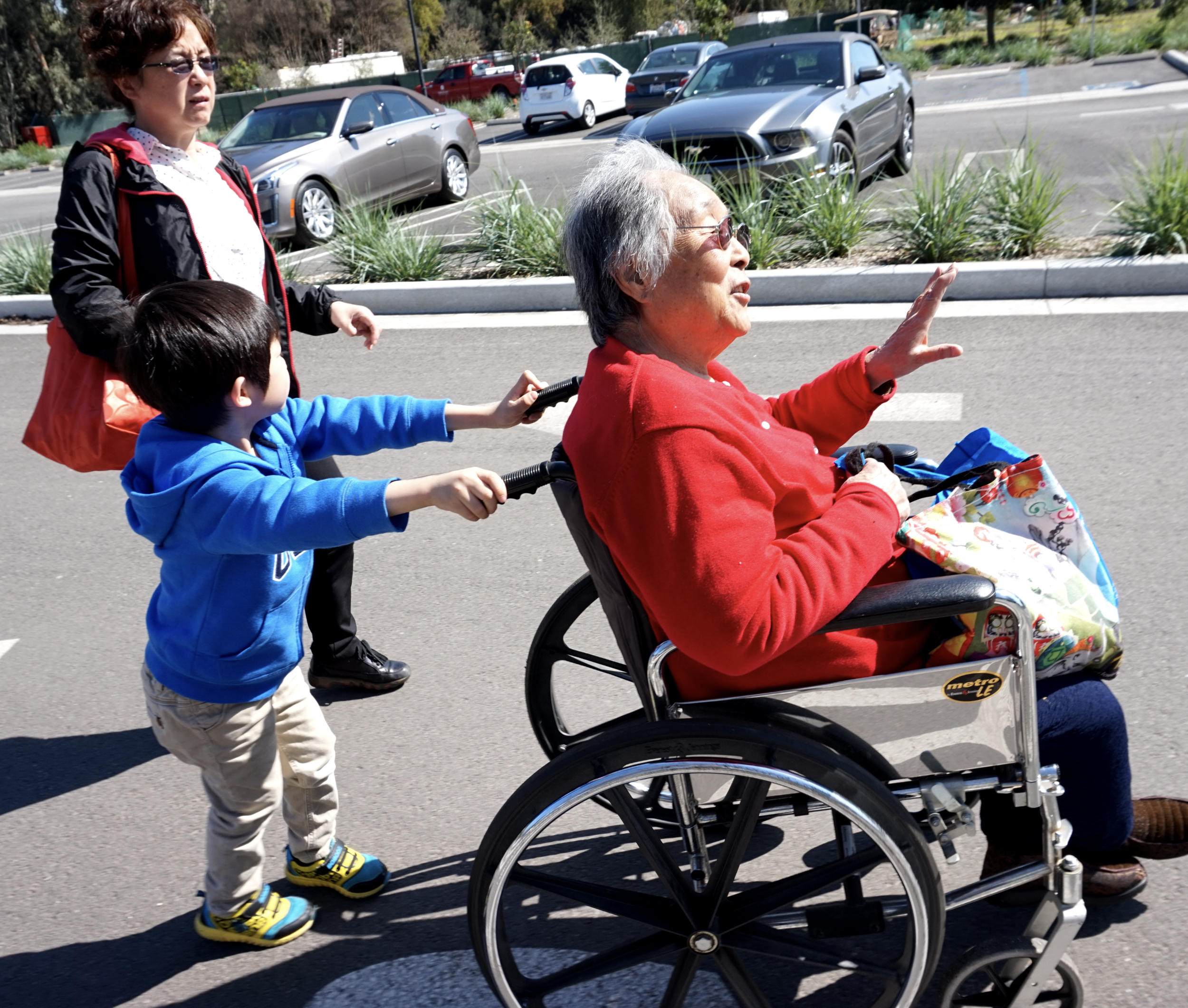 - User: My GrandmotherGrandma love traveling on day trips with family. However, even though we bought an electric wheelchair for her, she preferred her foldable standard wheelchair due to its ease of storage, and its ability to fold up into the trunk of my car.