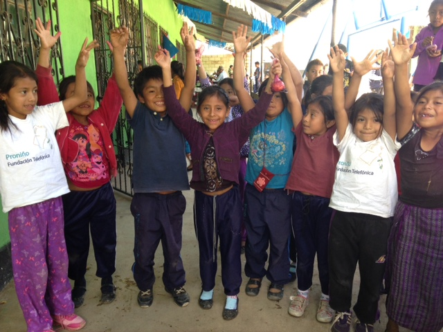 """Guatemalan kids are """"blooming"""" with positive attitudes when participating in our Learn, Grow, Eat & Go program. Horticulture provides opportunities to relieve stress and decrease anger and violent behaviors. Kids are learning to care for crops, prepare nutritious recipes, and relieve stress with exercises."""