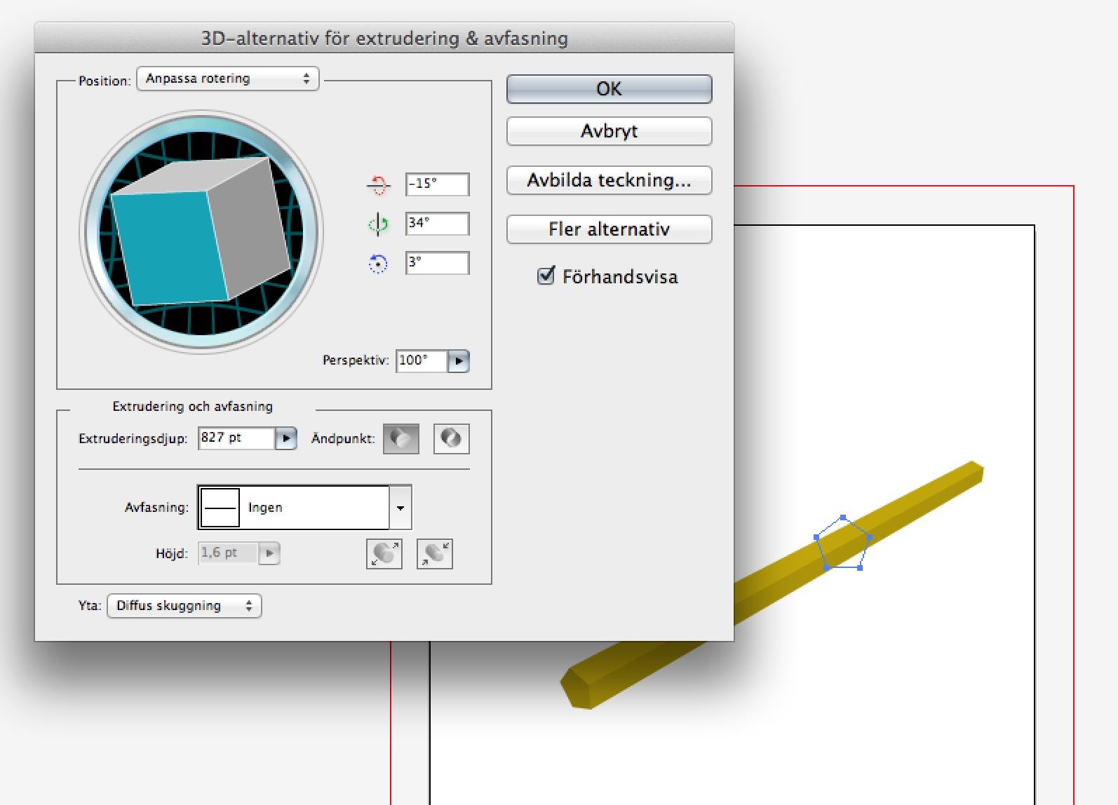 2.  Pennan är ett enkelt 3d-objekt.