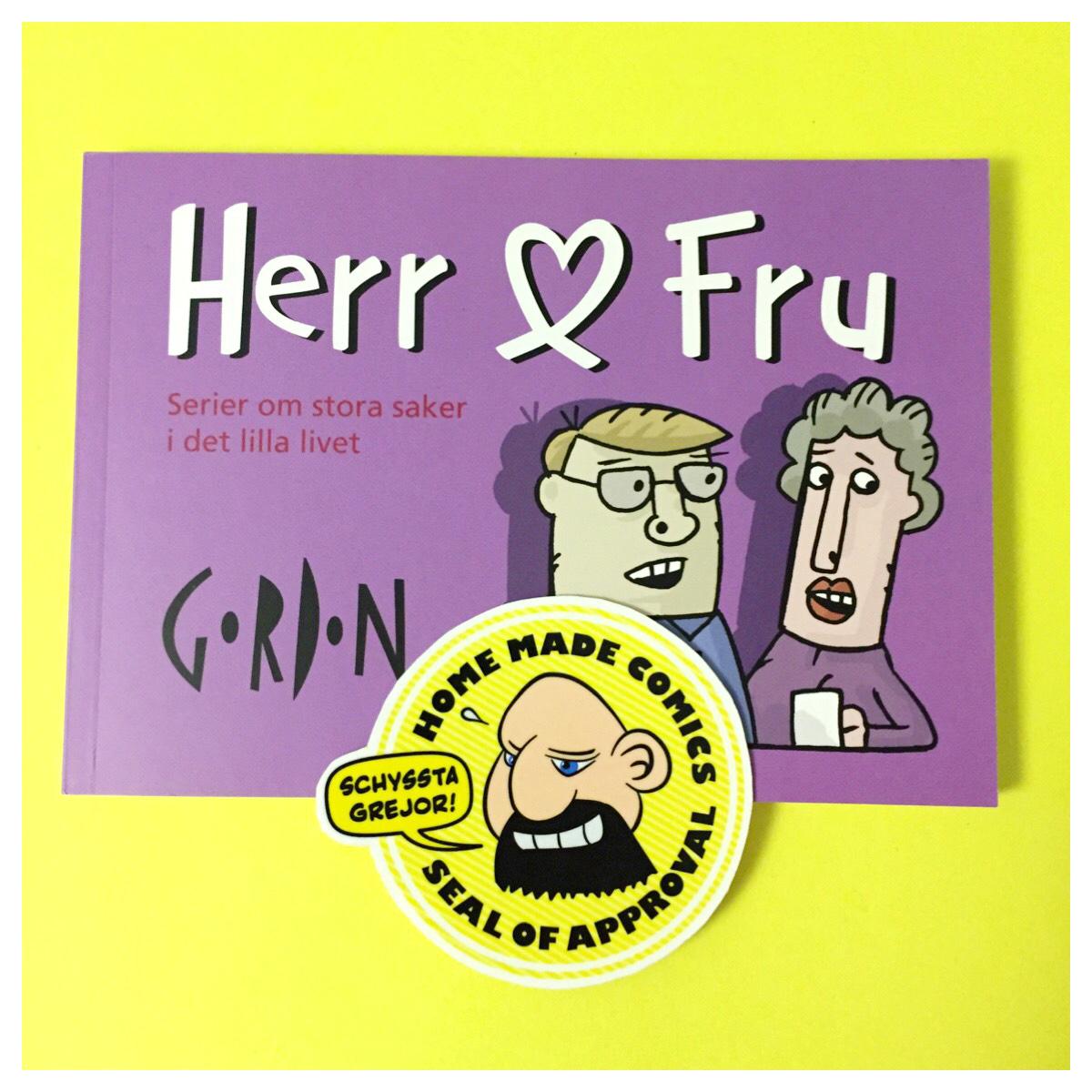 Home Made Comics Seal of Approval #144. Herr & Fru av Mattias Gordon utgiven av Pikkadåll förlag 2016.