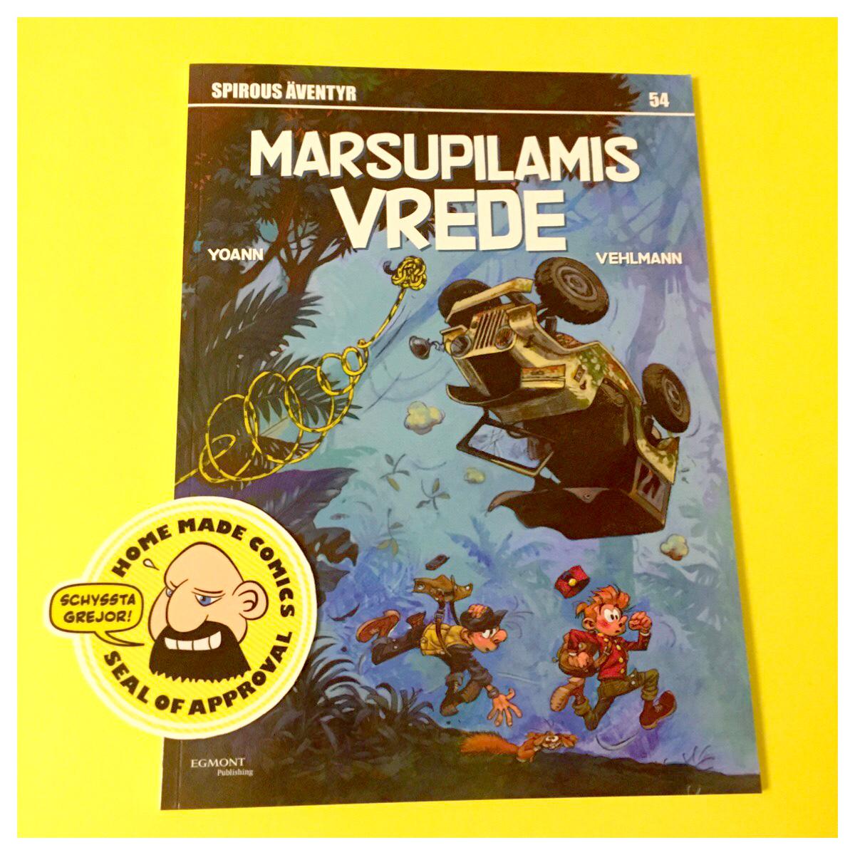 Home Made Comics Seal of Approval #145. Spirous äventyr 54 Marsipulamis vrede av Yoann och Vehlmann utgiven av Egmont 2016.